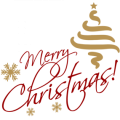 Merry Christmas Text PNG File