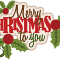 Merry Christmas Text PNG Image