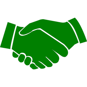 Handshakes logo illustration