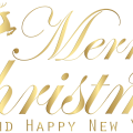 Merry Christmas Gold free png