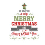 Creative Merry Christmas greeting card material free png