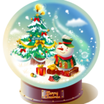 Merry Christmas water globe