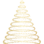 Gold Deco Christmas Tree free