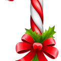 Christmas candy cane illustration