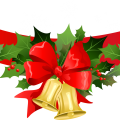 Christmas Banner with Gold Bells