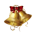 red and gold bell illustration