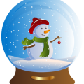 Santa Claus Snow Globes Christmas Day graphics