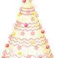 Large Gold Christmas Tree with Ornaments