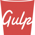 red Gulp cup illustration