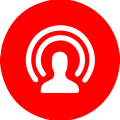 red and blue signal logo