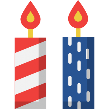 Candles-4th of July 7