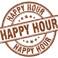 Happy Hour rubber stamp