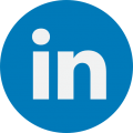 Linked in Round Icon logo 2