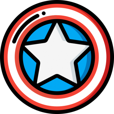 Captain America Shield-4th of July- 9