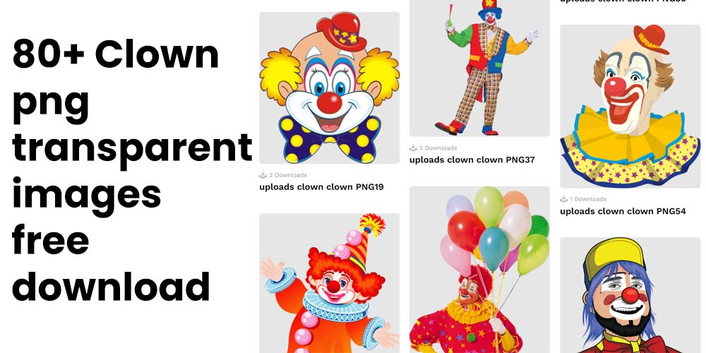 80+ Clown png transparent images free to download for your proejcts 5